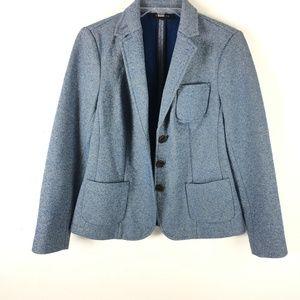 Talbots Womens Tweed Wool Blend Blazer Jacket